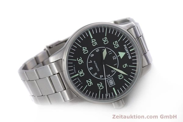 Used luxury watch Fortis Flieger steel automatic Kal. ETA 2824-2 Ref. 595.10.46  | 153496 03