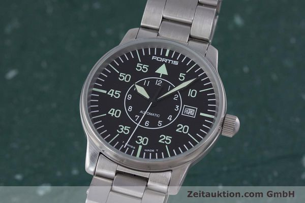 Used luxury watch Fortis Flieger steel automatic Kal. ETA 2824-2 Ref. 595.10.46  | 153496 04