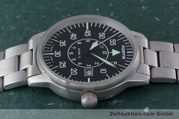 Used luxury watch Fortis Flieger steel automatic Kal. ETA 2824-2 Ref. 595.10.46  | 153496 05