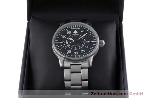 Used luxury watch Fortis Flieger steel automatic Kal. ETA 2824-2 Ref. 595.10.46  | 153496 07