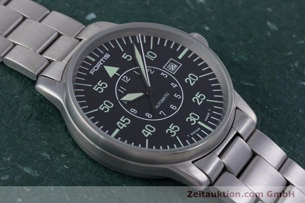 Used luxury watch Fortis Flieger steel automatic Kal. ETA 2824-2 Ref. 595.10.46  | 153496 14