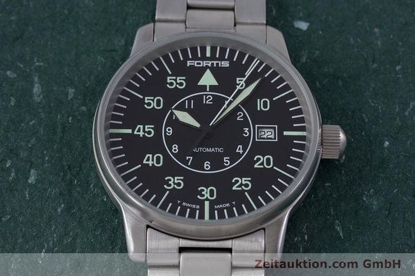 Used luxury watch Fortis Flieger steel automatic Kal. ETA 2824-2 Ref. 595.10.46  | 153496 15