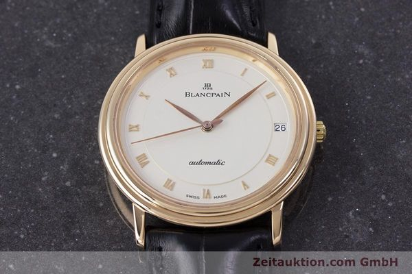 Used luxury watch Blancpain Villeret 18 ct gold automatic Kal. 95  | 153500 15