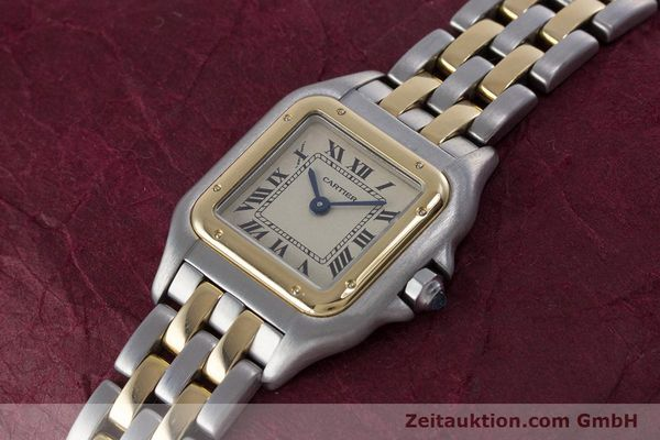 Used luxury watch Cartier Panthere steel / gold quartz Kal. 057.06  | 153501 01