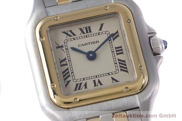 Used luxury watch Cartier Panthere steel / gold quartz Kal. 057.06  | 153501 02