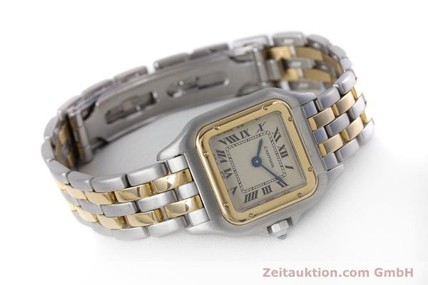 Used luxury watch Cartier Panthere steel / gold quartz Kal. 057.06  | 153501 03
