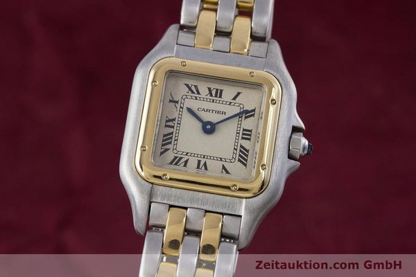 Used luxury watch Cartier Panthere steel / gold quartz Kal. 057.06  | 153501 04