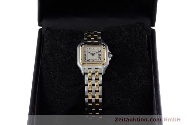 Used luxury watch Cartier Panthere steel / gold quartz Kal. 057.06  | 153501 07