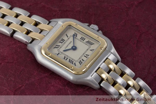 Used luxury watch Cartier Panthere steel / gold quartz Kal. 057.06  | 153501 14