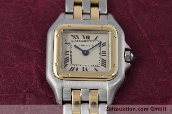 Used luxury watch Cartier Panthere steel / gold quartz Kal. 057.06  | 153501 15