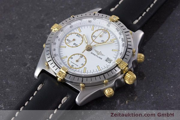 Used luxury watch Breitling Chronomat chronograph steel / gold automatic Kal. Valj.  7750 Ref. 81950  | 153520 01