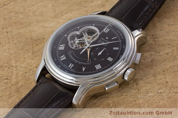 Used luxury watch Zenith El Primero chronograph steel automatic Kal. 4021 Ref. 0312604021  | 153531 01
