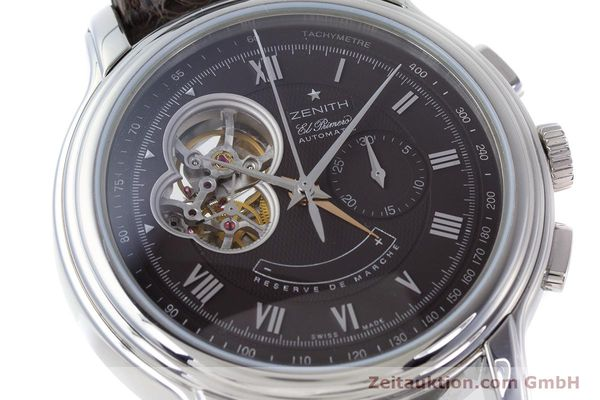 Used luxury watch Zenith El Primero chronograph steel automatic Kal. 4021 Ref. 0312604021  | 153531 02