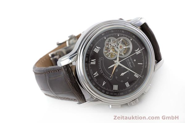 Used luxury watch Zenith El Primero chronograph steel automatic Kal. 4021 Ref. 0312604021  | 153531 03
