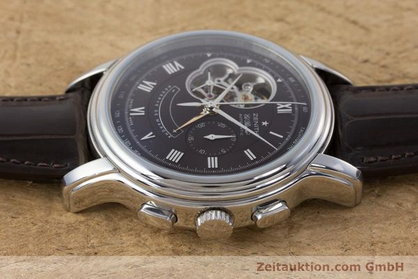 Used luxury watch Zenith El Primero chronograph steel automatic Kal. 4021 Ref. 0312604021  | 153531 05