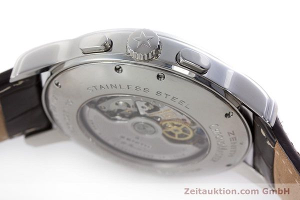Used luxury watch Zenith El Primero chronograph steel automatic Kal. 4021 Ref. 0312604021  | 153531 08