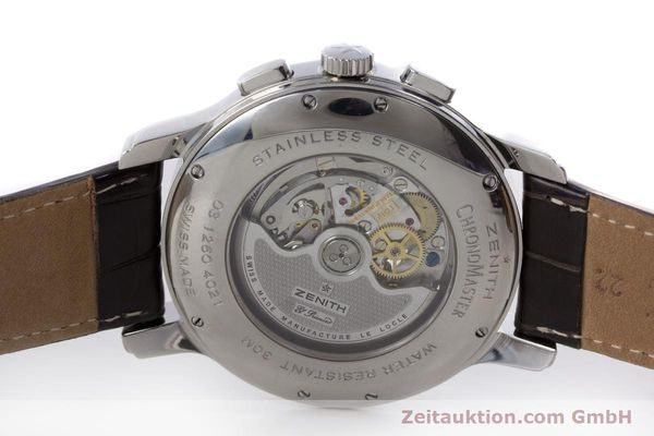 Used luxury watch Zenith El Primero chronograph steel automatic Kal. 4021 Ref. 0312604021  | 153531 09