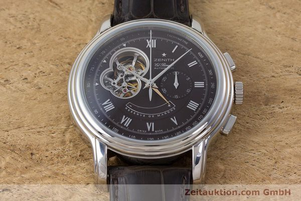 Used luxury watch Zenith El Primero chronograph steel automatic Kal. 4021 Ref. 0312604021  | 153531 15