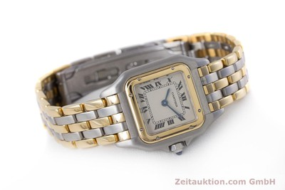 CARTIER PANTHERE STEEL / GOLD QUARTZ KAL. 66 [153565]