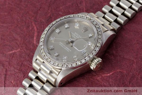 Used luxury watch Rolex Lady Datejust 18 ct white gold automatic Kal. 2030 Ref. 6917  | 153577 01