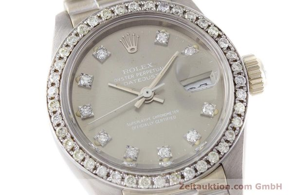 Used luxury watch Rolex Lady Datejust 18 ct white gold automatic Kal. 2030 Ref. 6917  | 153577 02