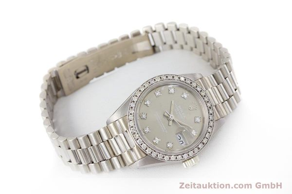 Used luxury watch Rolex Lady Datejust 18 ct white gold automatic Kal. 2030 Ref. 6917  | 153577 03