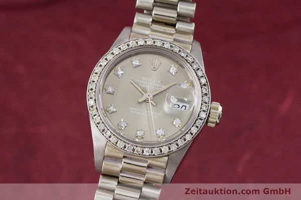 ROLEX LADY DATEJUST 18 CT WHITE GOLD AUTOMATIC KAL. 2030 LP: 45150EUR [153577]