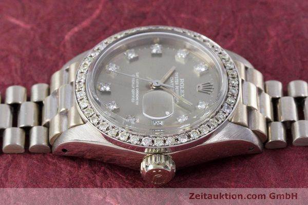 Used luxury watch Rolex Lady Datejust 18 ct white gold automatic Kal. 2030 Ref. 6917  | 153577 05