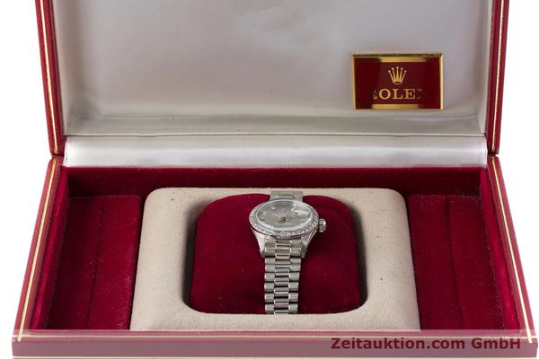 Used luxury watch Rolex Lady Datejust 18 ct white gold automatic Kal. 2030 Ref. 6917  | 153577 07