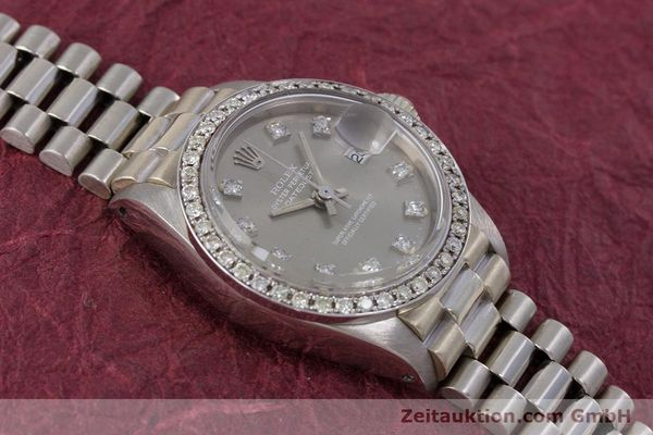 Used luxury watch Rolex Lady Datejust 18 ct white gold automatic Kal. 2030 Ref. 6917  | 153577 16