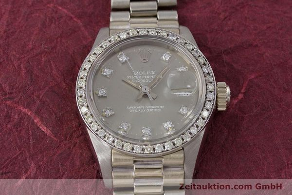 Used luxury watch Rolex Lady Datejust 18 ct white gold automatic Kal. 2030 Ref. 6917  | 153577 17