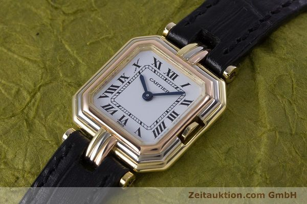 Used luxury watch Cartier * 18 ct gold quartz Kal. 66  | 153583 01