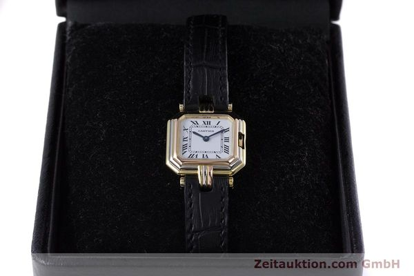 Used luxury watch Cartier * 18 ct gold quartz Kal. 66  | 153583 07