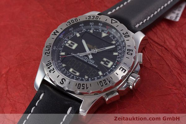 Used luxury watch Breitling Airwolf chronograph steel quartz Kal. B78 ETA E20.351 Ref. A78363  | 153586 01
