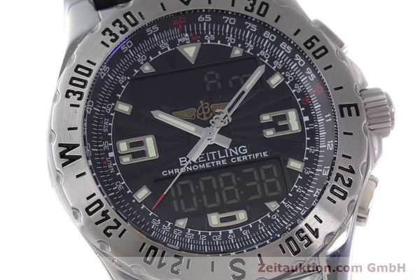 Used luxury watch Breitling Airwolf chronograph steel quartz Kal. B78 ETA E20.351 Ref. A78363  | 153586 02