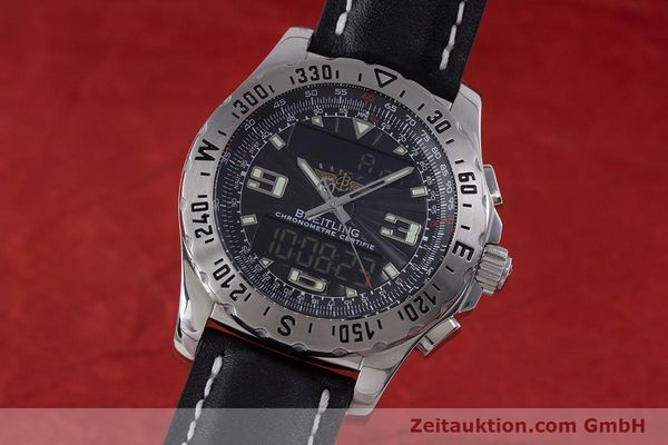 Used luxury watch Breitling Airwolf chronograph steel quartz Kal. B78 ETA E20.351 Ref. A78363  | 153586 04