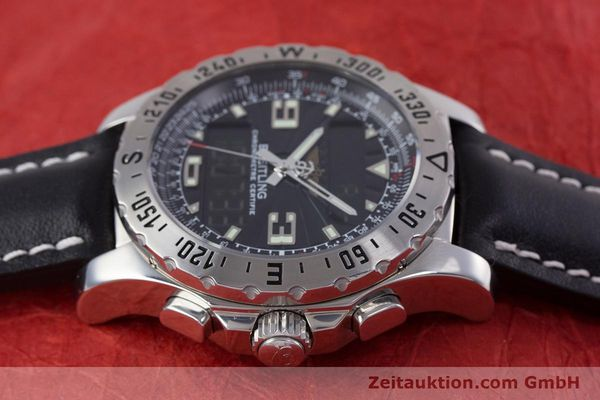 Used luxury watch Breitling Airwolf chronograph steel quartz Kal. B78 ETA E20.351 Ref. A78363  | 153586 05