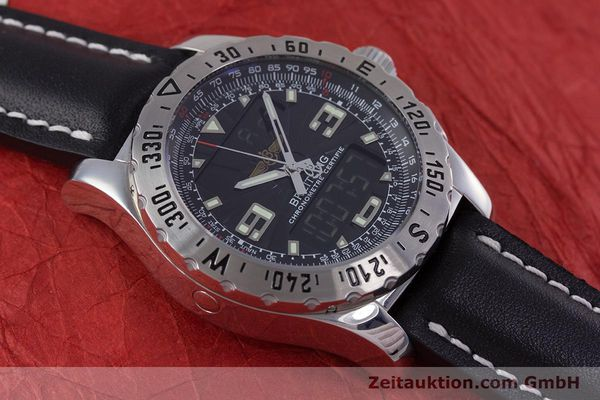 Used luxury watch Breitling Airwolf chronograph steel quartz Kal. B78 ETA E20.351 Ref. A78363  | 153586 11