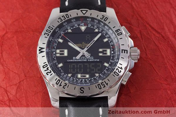 Used luxury watch Breitling Airwolf chronograph steel quartz Kal. B78 ETA E20.351 Ref. A78363  | 153586 12