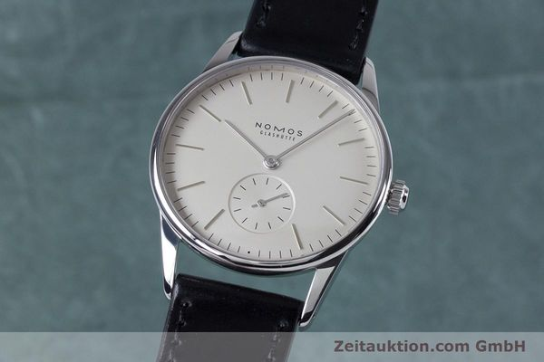 NOMOS ORION STEEL MANUAL WINDING KAL. ALPHA 13830 LP: 1400EUR [153601]