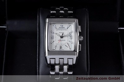 JAEGER LE COULTRE REVERSO CHRONOGRAPH STEEL MANUAL WINDING [153632]