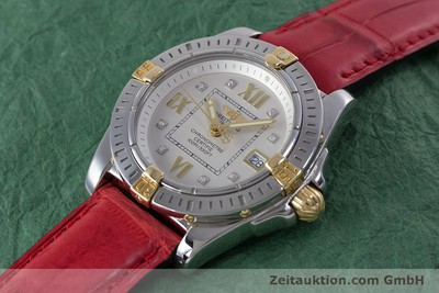 BREITLING LADY COCKPIT STAHL / GOLD DIAMANTEN DAMENUHR B71356 VP: 4430,- EURO [153640]