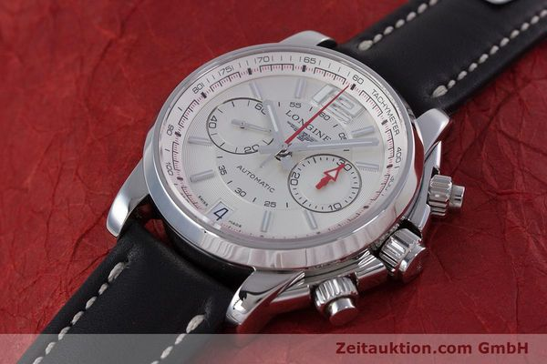 Used luxury watch Longines Admiral chronograph steel automatic Kal. L.705.2 ETA A07231 Ref. L3.666.4  | 153648 01