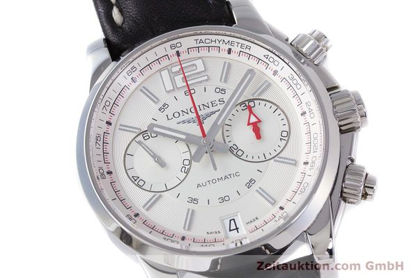 Used luxury watch Longines Admiral chronograph steel automatic Kal. L.705.2 ETA A07231 Ref. L3.666.4  | 153648 02