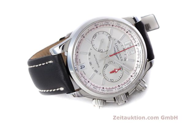Used luxury watch Longines Admiral chronograph steel automatic Kal. L.705.2 ETA A07231 Ref. L3.666.4  | 153648 03