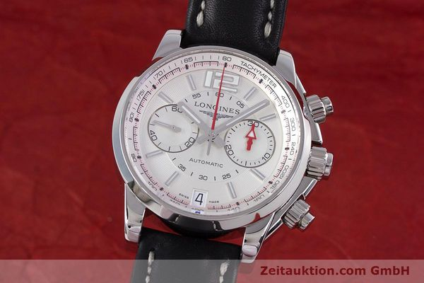 Used luxury watch Longines Admiral chronograph steel automatic Kal. L.705.2 ETA A07231 Ref. L3.666.4  | 153648 04