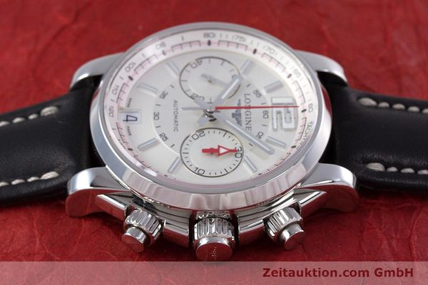 Used luxury watch Longines Admiral chronograph steel automatic Kal. L.705.2 ETA A07231 Ref. L3.666.4  | 153648 05