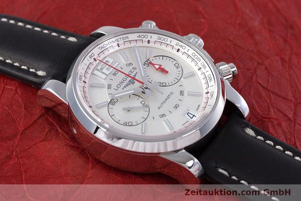Used luxury watch Longines Admiral chronograph steel automatic Kal. L.705.2 ETA A07231 Ref. L3.666.4  | 153648 13