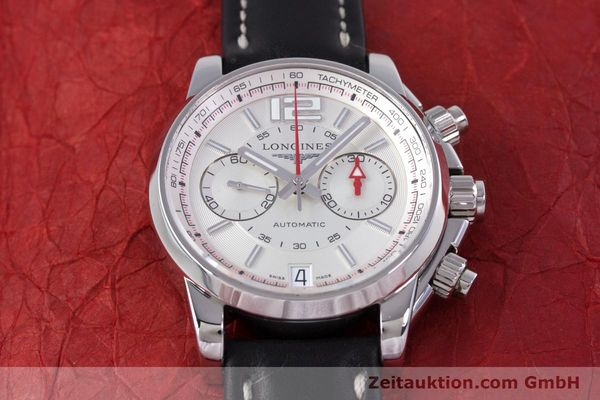 Used luxury watch Longines Admiral chronograph steel automatic Kal. L.705.2 ETA A07231 Ref. L3.666.4  | 153648 14