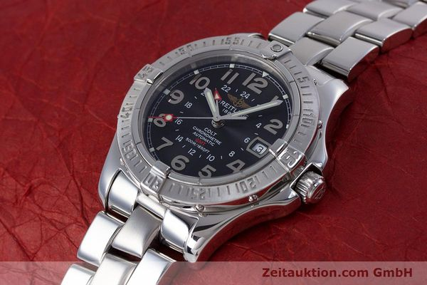Used luxury watch Breitling Colt steel automatic Kal. B32 ETA 2893-2 Ref. A32350  | 153650 01